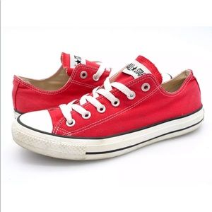 Converse Mens Product Red Low Top Sneaker Shoes